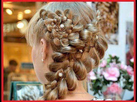 Прически на длинные волосы. Ажурная коса с цветочком из волосhttps://www.youtube.com/watch?v=VP3zmegM-dM
