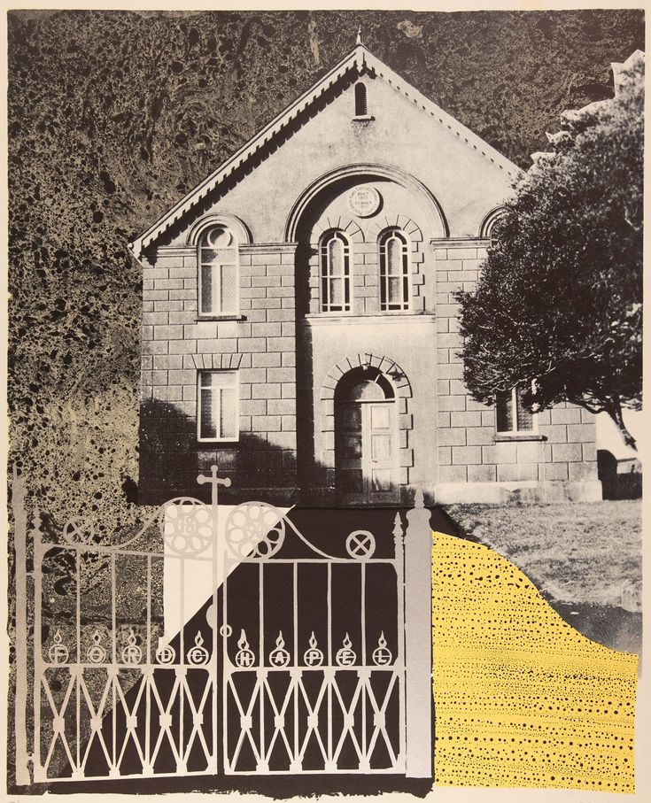 ✽ john piper - 'penybont ford congregational church' - silkscreen print