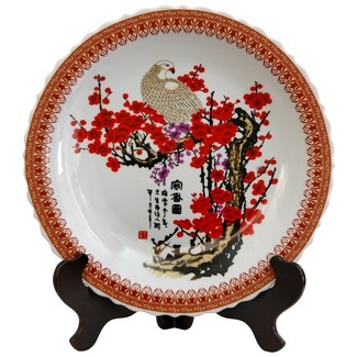 Cherry Blossom Decorative Large Plate in White  sc 1 st  Pinterest & 41 best Oriental Plates. images on Pinterest | Dinner plates Dishes ...
