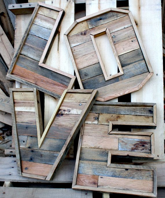 Original Reclaimed Wood Marquee Letters Letters A-Z available - Order more than one letter and make a word. (Capitol letters only) Letters are approximately 16 inches tall including the trim piece around them, but vary in width based on the letter chosen. Contact us if you have want a whole word we can try to save you on shipping. -Made from pallet and reclaimed wood -Measures around 16 x 1.5 thick -Width varies based on letter but most are between 14-16 wide (Letters like W,Y and M are…