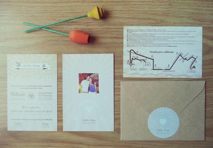 { I & D Lisbon inspired Invitations } monofolha 10 x 15cm /// croqui 10 x 15cm /// envelope c/ etiqueta circular