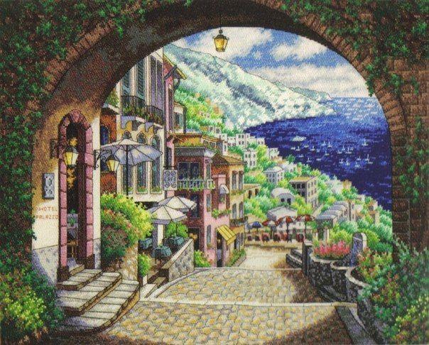 Tunnel to Mediterranean Village 1/8