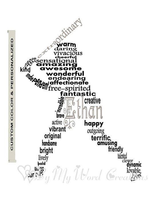Art de Sport personnalisé est un cadeau unique pour ce garçon spécial. Cet art du mot joueur de Baseball sera personnalisé et adapté à votre