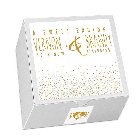 25 Cake Box Favors Wedding Favors Wedding Cake Box by LoveMrandMrs
