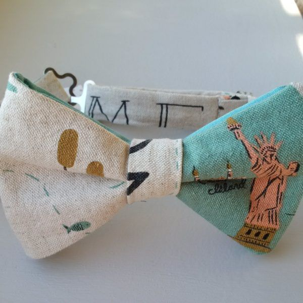 Bow tie - Statue of liberty cotton/linen handcrafted bow tie