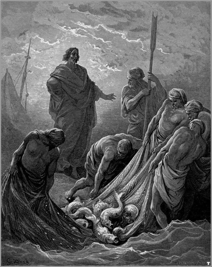 gustave_dore_bibel_the_miraculous_draught_of_fishes  – G. Doré – Bible