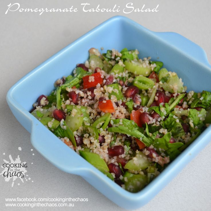 Pomegranate Tabouli Salad - Cooking in the Chaos.