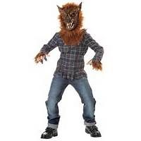 Kids Deluxe Blue Scary Werewolf Costume  Child Costumes