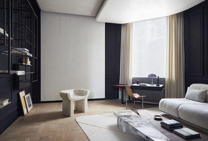AD Intérieurs 2015, les décors : Le salon d'étude de Bismut & Bismut © Claire Israël