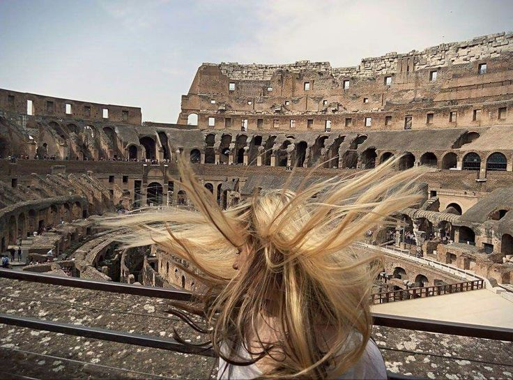 Coloseum, Rome, Italy.   Girl,  Blondie,  Long hair, Amazing Moment.
