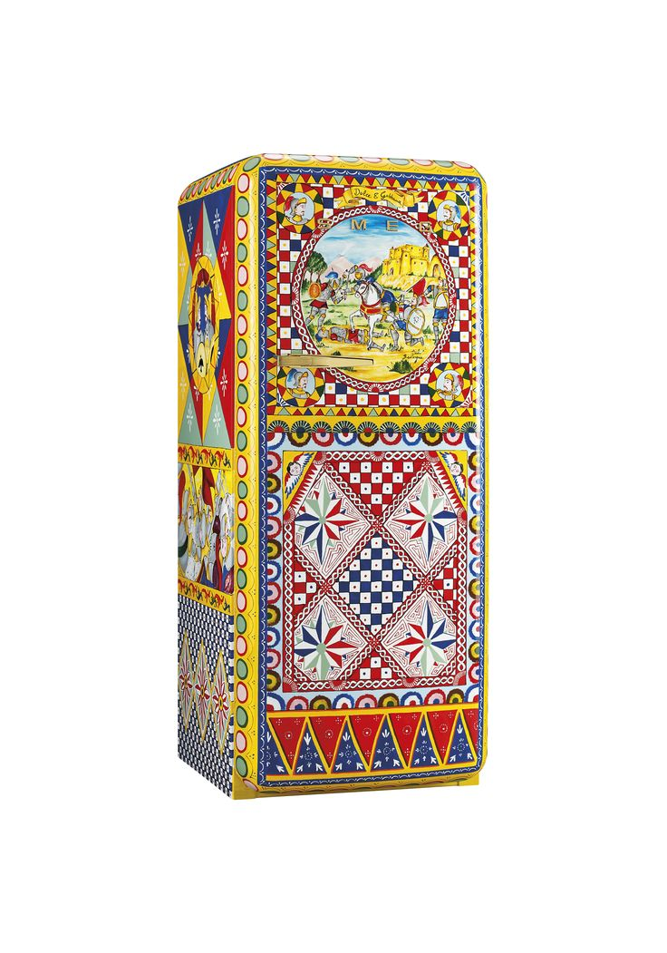 Smeg Fridge in collaboration with Dolce and Gabbana, handpainted by Bevilacqua