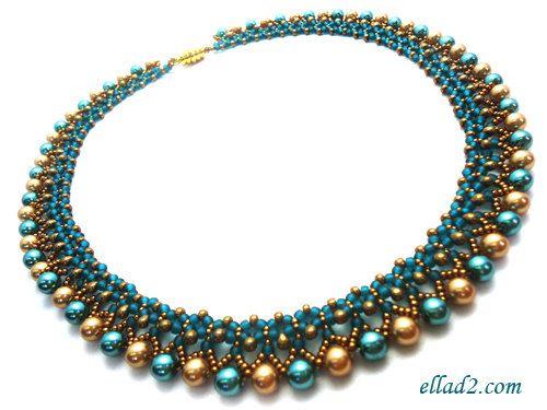 Machen Sie diese wunderschöne Halskette! Beide Seiten der Kette sind wunderschön und man kann es auf beiden Seiten tragen. Sie können mit Farben der Perlen und Perlen spielen. Statt Perlen können Sie verwenden, Briollete, Dolch Perlen... zum Beispiel.  Einfach und relativ schnell zu machen. Halskette ist 46,5 cm/18,3 lange ohne die Spange.  Sicke Tutorial ist sehr detailliert, mit Fotos von jedem Schritt.  Material, was Sie brauchen:  -Rocailles Größe 8/0, 11/0 -Miyuki Tropfen ...
