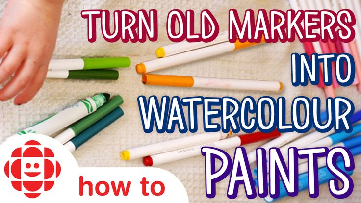 Save tons of money by making your own liquid watercolours out of dried up markers. Then use them to make a sweet Earth Day inspired craft!