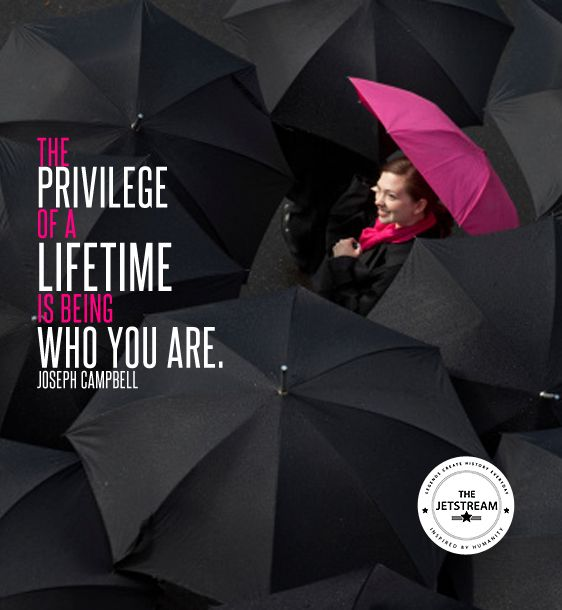 The privilege of a lifetime is being who you are. | Julian Pencilliah Inspire #Privilege #BeYourself #Inspiration #Quotes