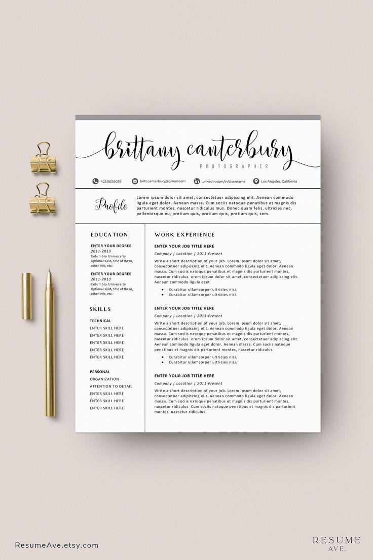 sorority resume template word