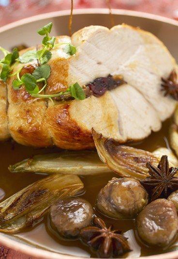 #Receta para Menú de #Navidad: Pavo Relleno con Castañas