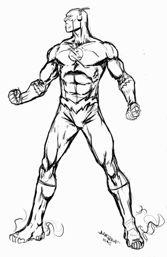 The-Flash Superhelden Malvorlagen zum Drucken und Ausmalen