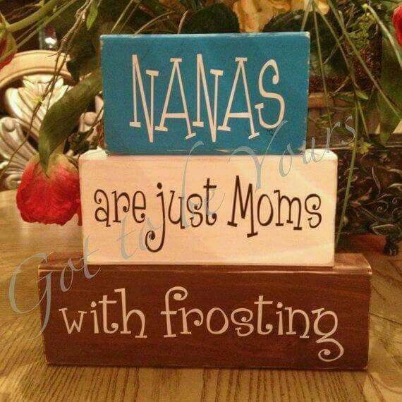 Mom's with frosting, lol!