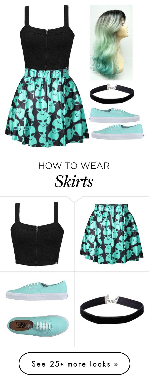 """Alien Skirt"" by spnlex on Polyvore featuring Element, Vans and Miss Selfridge"