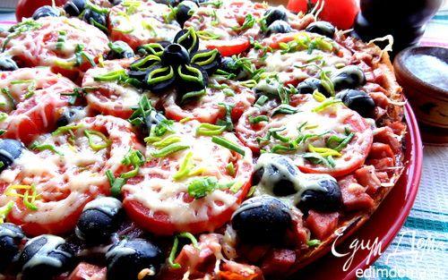 Пицца, приготовленная без духовки | Кулинарные рецепты от «Едим дома!»