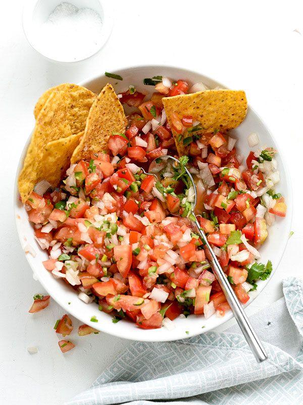 Easy Pico de Gallo Salsa Fresca | foodiecrush.com