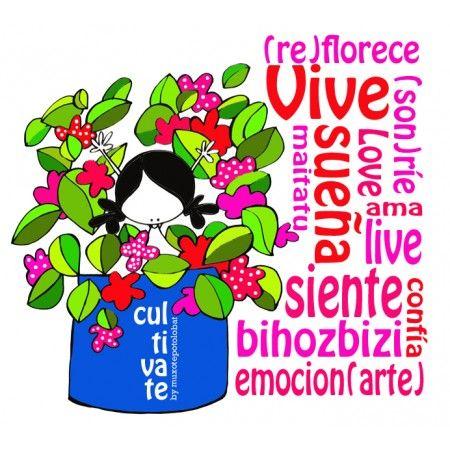 lamina-el-arte-de-cultivar. Practica el arte de cultivar(te). Riega tus sueños. Poda tus miedos. Airea tu risa y oxigena tu corazón. Lee tus emociones. Ilustra tus sentipensares. Cultiva las flores que te invitan a soñar, sonreír, sentir, confiar, emocionarteeeeeeeeee... Y saluda(te) cada día al ritmo de un: Eeeeegunon mundo