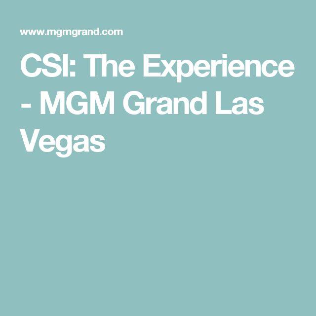 Csi experience mgm coupon