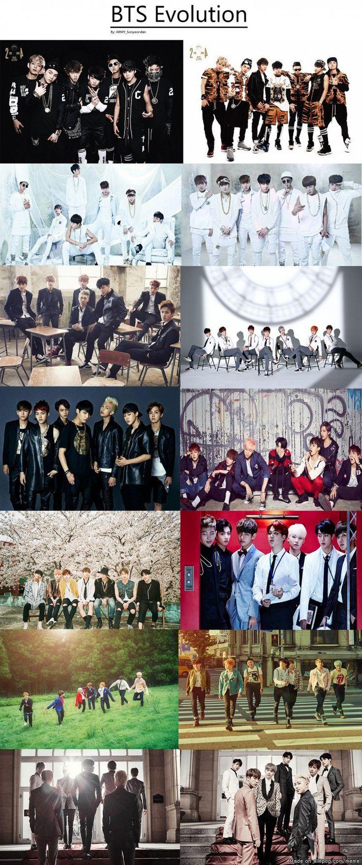 BTS Evolution.....E que evolução em ?...rs...quanto mais velhos melhor