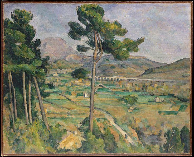 Paul Cézanne, Mont Sainte-Victoire, 1882-1885, Metropolitan Museum of Art. Post-Impressionism: Oil Paintings, Paul Cezanne, Saint Victoir, Landscape Paintings, Paul Cézann, Doce Paul, Sainte Victoir, Mount Saintevictoir, Metropolitan Museums