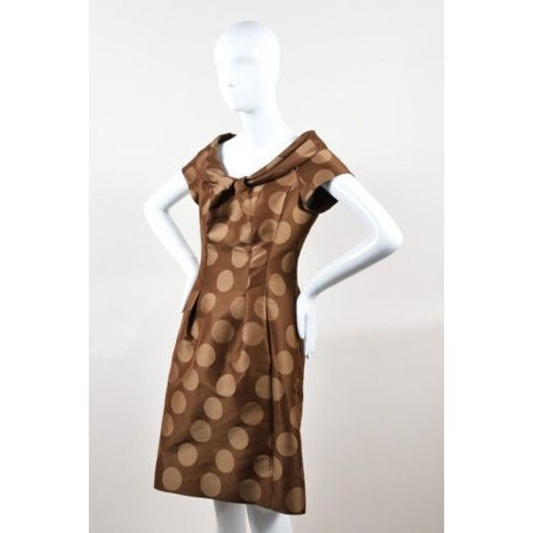 1000  ideas about Brown Sleeved Dresses on Pinterest  Polka dot ...
