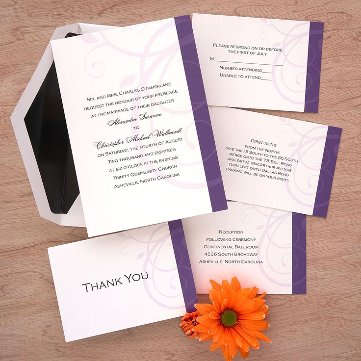 lotus flower wedding invitations%0A Elegant Swirl Wedding Invitations The American Wedding  http   www theamericanwedding com
