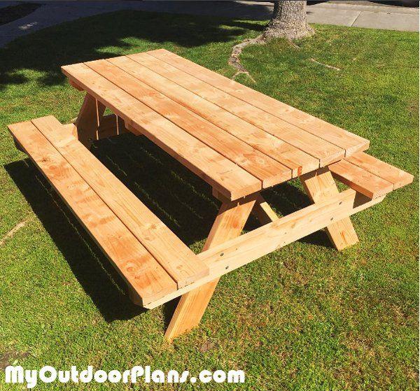diy 6 foot picnic table diy wood diy picnic table picnic table rh pinterest com