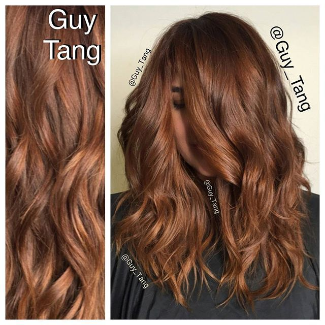 #HairBesties  we love copper gold tones! Hope you guys enjoy the Hair Painting balayage tutorial on #periscope today. Make sure to check out my periscope for more videos. Gloss her with gloss sync 9cg 10vol.