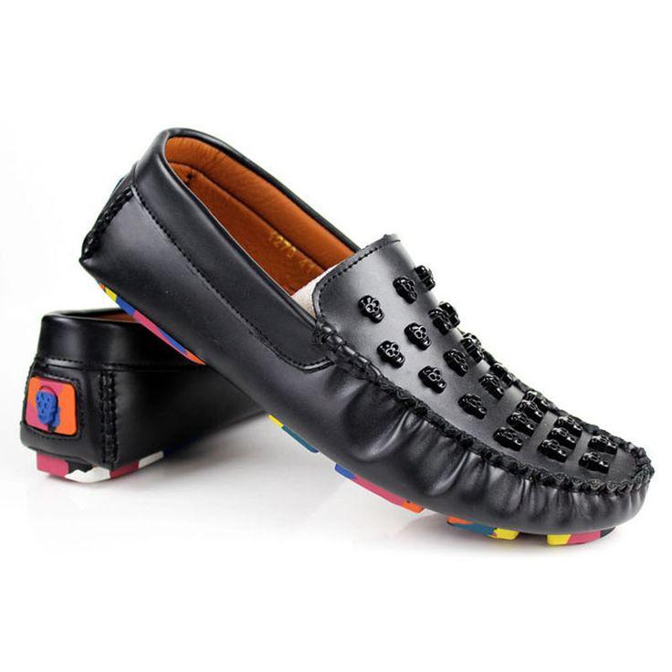 Men's Loafers Moccasins Skull Leather Shoes //Price: $50.89 & FREE Shipping //     #skull #skullinspiration #skullobsession #skulls