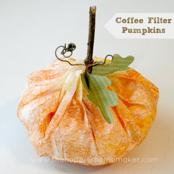Coffee filter pumpkin fall halloween crafts pinterest for Coffee crafts