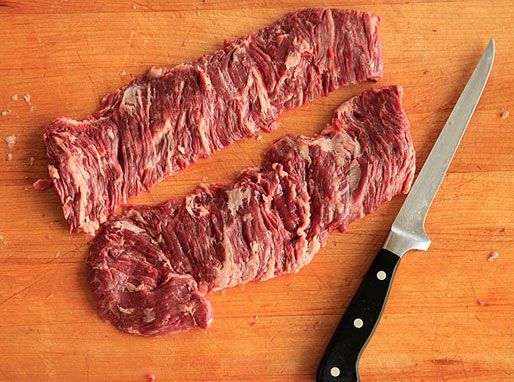 """The Food Lab: Flank or Skirt Steak??  ALWAYS choose skirt steak over flank steak because it really DOES say, """"anything you can do, I can do better."""" ready this----here is why..."""