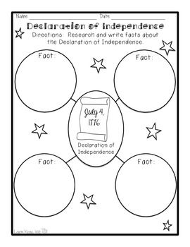 Declaration of Independence research organizer - TpT