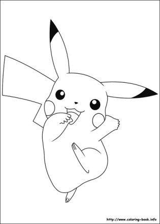 Dibujos de PIkachu Pokemon para colorear | Preescolar ...