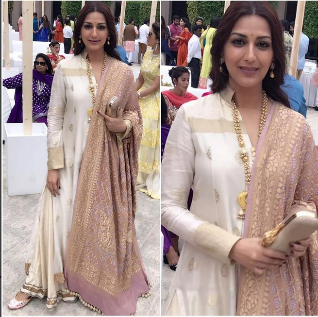 Sonali Bendre In A Beautiful Dress
