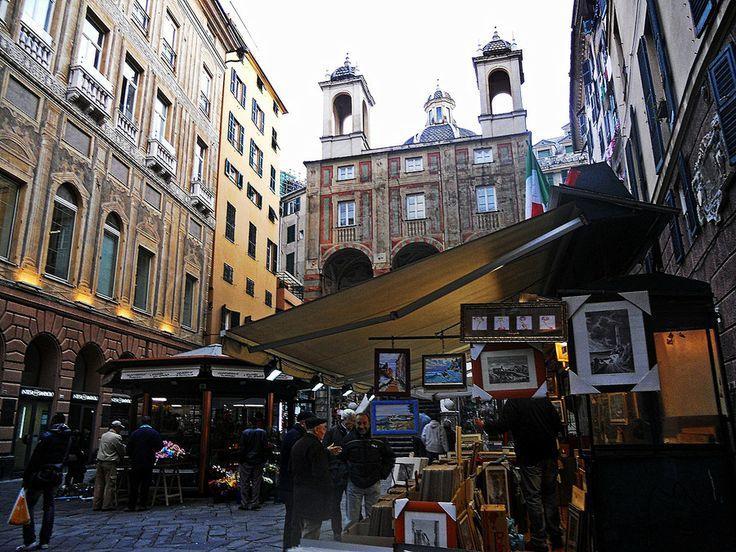 Genoa, Piazza Banchi by Marilena Vaccarini on 500px