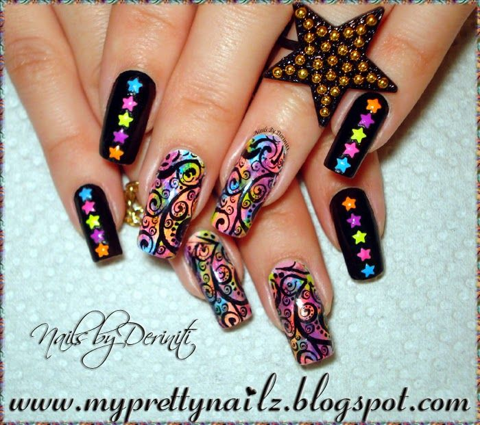 84 best my nail designs images on pinterest nail art designs my pretty nailz bps star studded nail art design and video tutorial prinsesfo Gallery