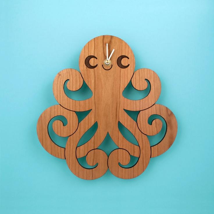Wood Octopus Wall Clock  Kids Ocean Nursery Theme. 17 Best ideas about Kids Wall Clocks on Pinterest   Happy shark