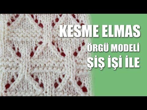 KESME ELMAS Örgü Modeli - Ajurlu Örgü Modelleri - YouTube