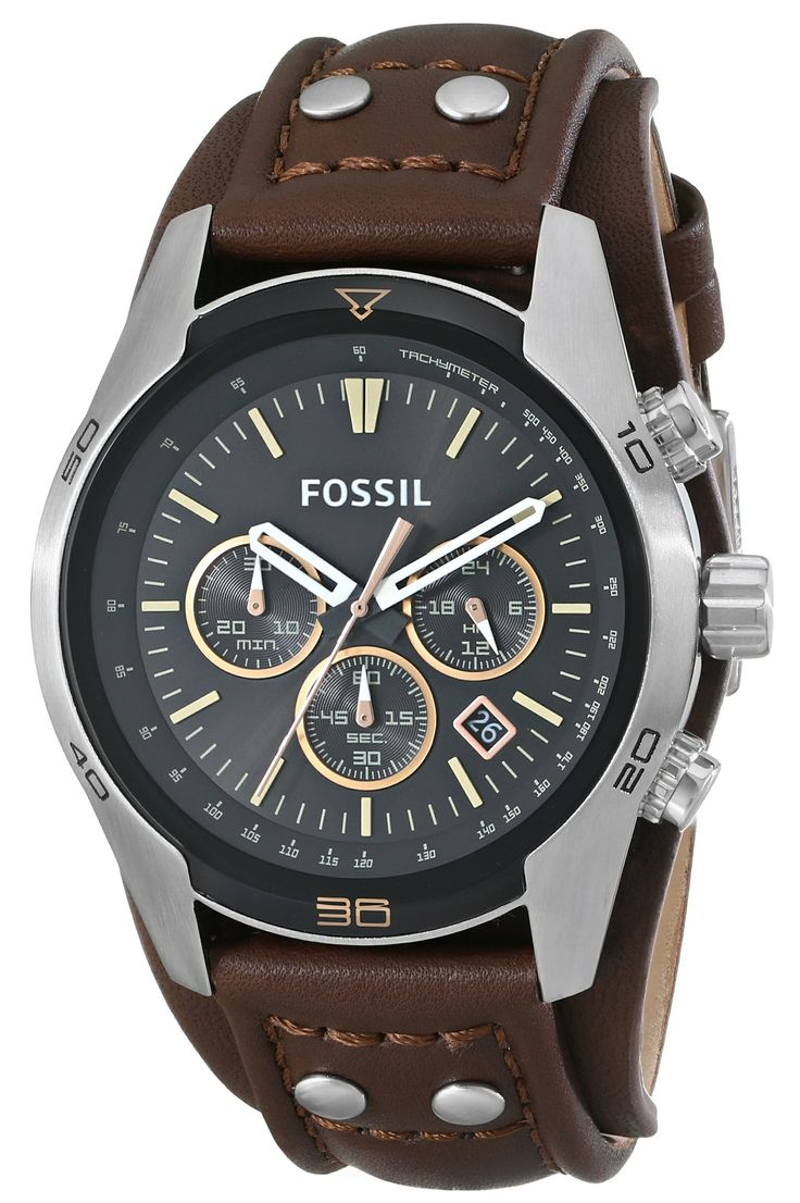 Amazon.com: Fossil CH2891 Watches, Men's Coachman Chronograph Leather Watch - Brown: Fossil: Watches