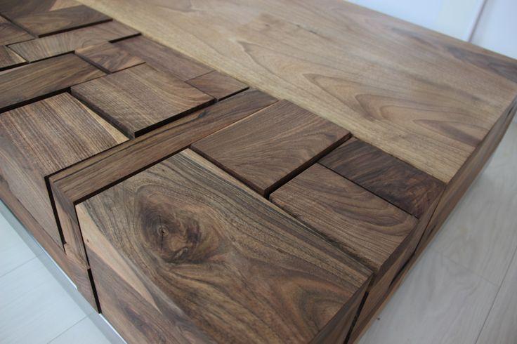 Hand made walnut coffee table by Pracownia Stołów