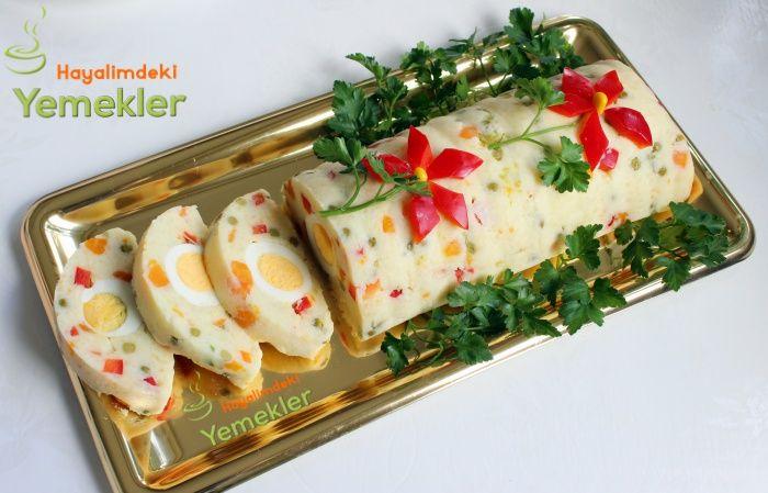 Kek Kalıbında Yumurtalı Patates Salatası