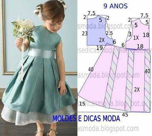 Patrones gratis de vetidos elegantes para niñas