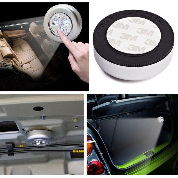3 LED focos de la luz pat ligero toque fatalidad techo de la cabina LED luz de la lectura del tronco