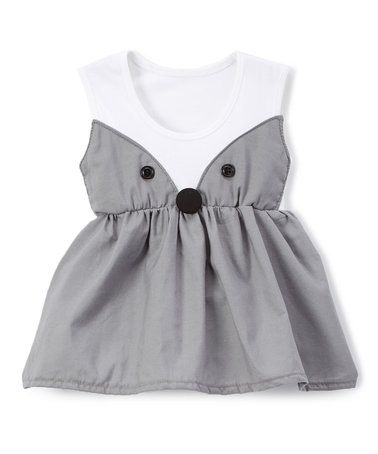 Love this Gray Fox Bow A-Line Dress - Infant & Toddler on #zulily! #zulilyfinds