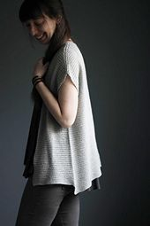 Jessie's Girl Cardi is the cardigan version of my pullover pattern Jessie's Girl and just like the original, it is knit seamlessly from the bottom-up and features a very loose stitch pattern in sport-weight yarn to create a drapey silhouette perfect for spring & summer.